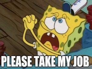 spongebob job