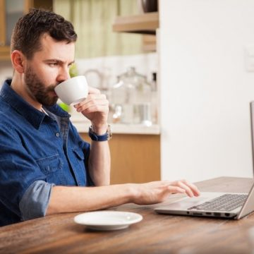 Remote Worker Coffee Drinker